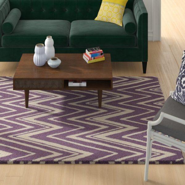 Ebern Designs Daveney Purple Area Rug