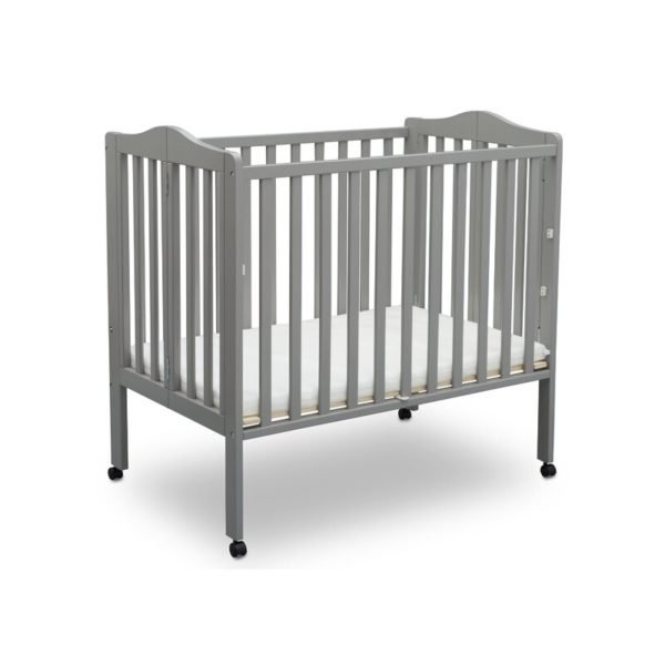 Delta Children Folding Mini Portable Crib with Mattress
