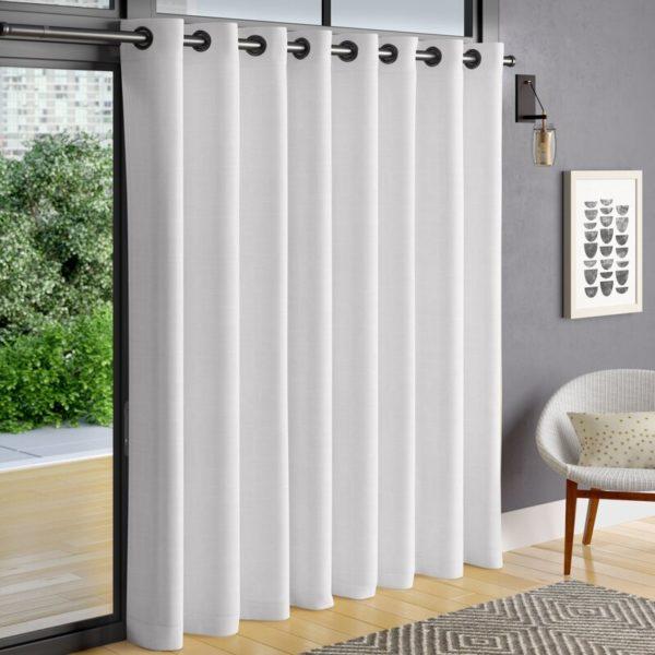 Corrigan Studio Heil Patio Solid Color Room Darkening Grommet Single Curtain Panel