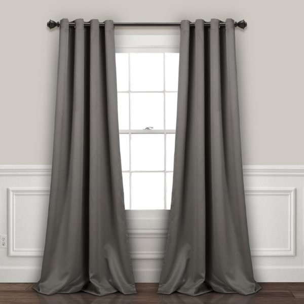 Everly Quinn Ketterman Solid Blackout Thermal Grommet Window Panels (Set of 2)