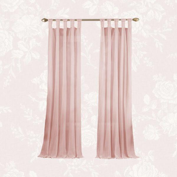 Kelly Clarkson Home Liebert Solid Semi-Sheer Tab Top Single Curtain Panel