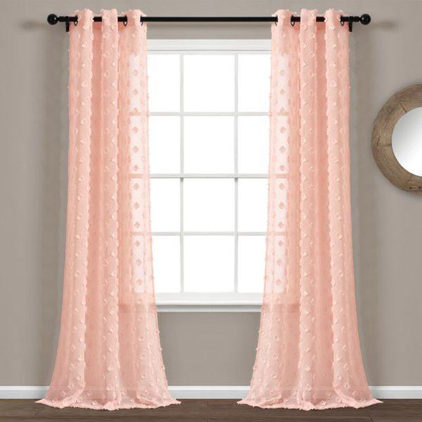 August Grove Marlys Polka Dots Sheer Curtain Panels (Set of 2)