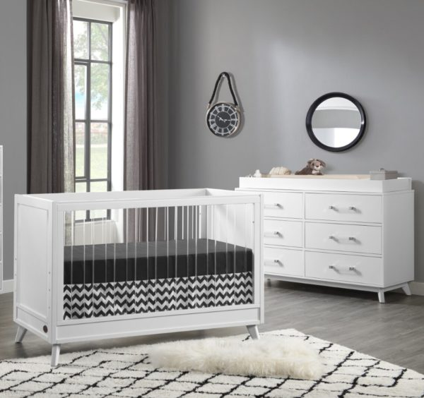 Isabelle & Max Tazewell Wood & Acrylic 3-in-1 Convertible Crib
