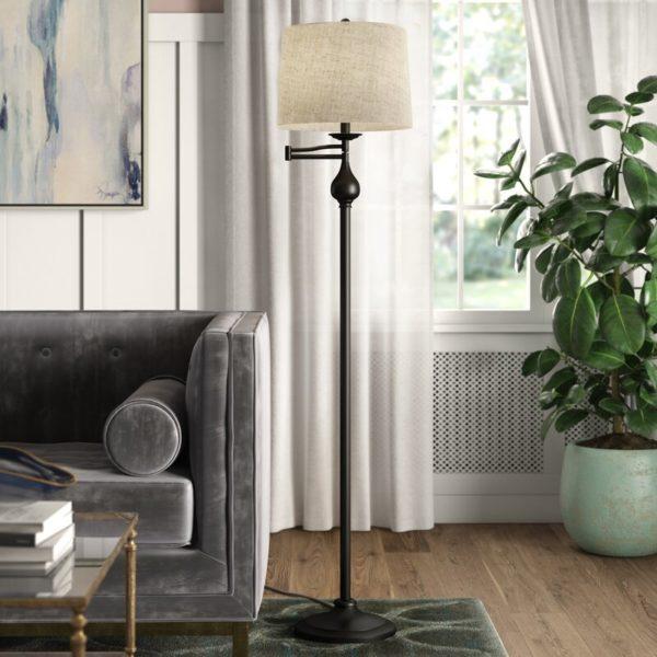 "Alcott Hill Thatcher 63"" Swing Arm Floor Lamp"