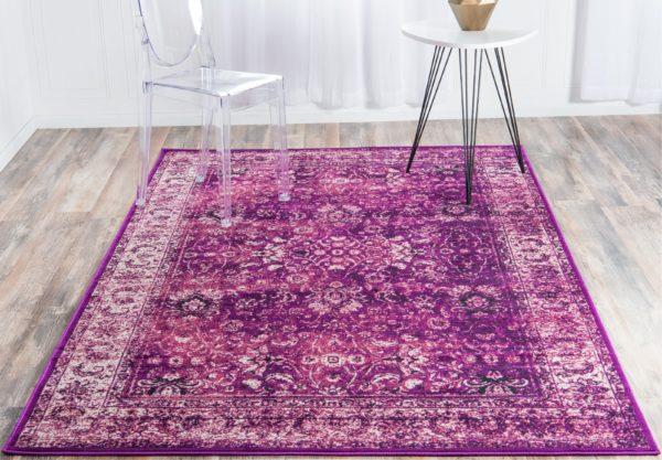 Mistana Neuilly Oriental Lilac/Violet Area Rug