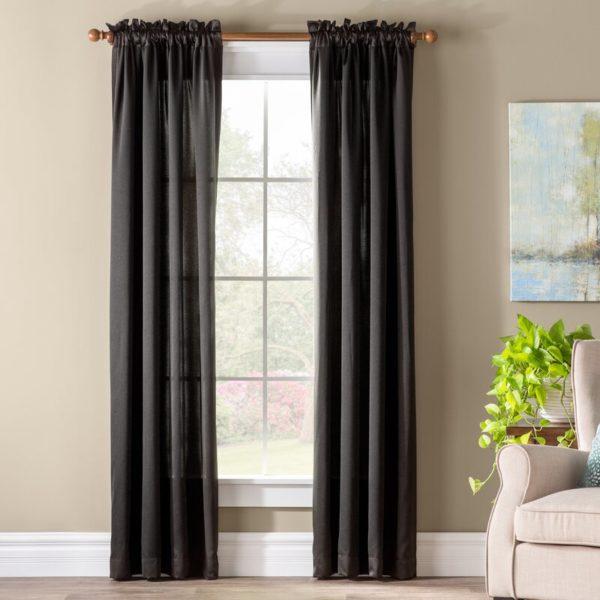 Wayfair Basics® Solid Room Darkening Thermal Rod Pocket Single Curtain Panel