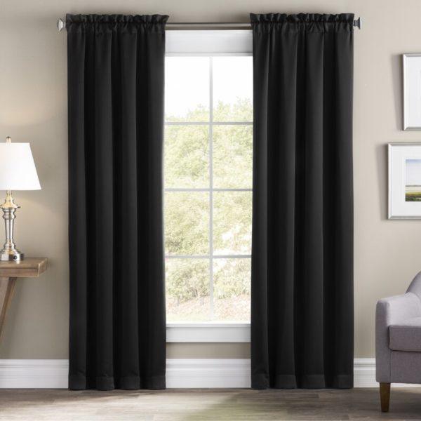 Wayfair Basics Solid Blackout Thermal Rod Pocket Single Curtain Panel