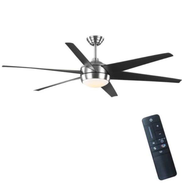 Home Decorators Collection Windward 68 in. Indoor/Outdoor Brushed Nickel Ceiling Fan