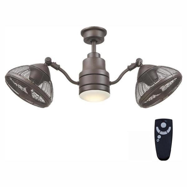 Home Decorators Collection Pendersen 42 in. Integrated LED Indoor/Outdoor Espresso Bronze Ceiling Fan