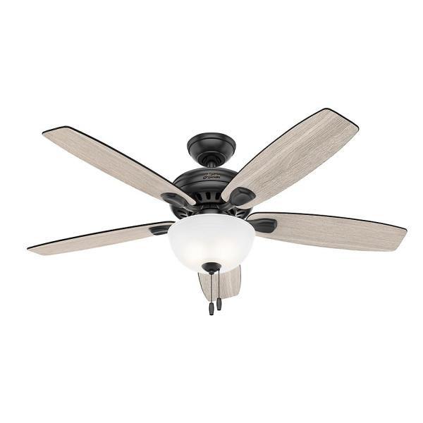 Hunter Stratford 52 in. Indoor Matte Black Ceiling Fan