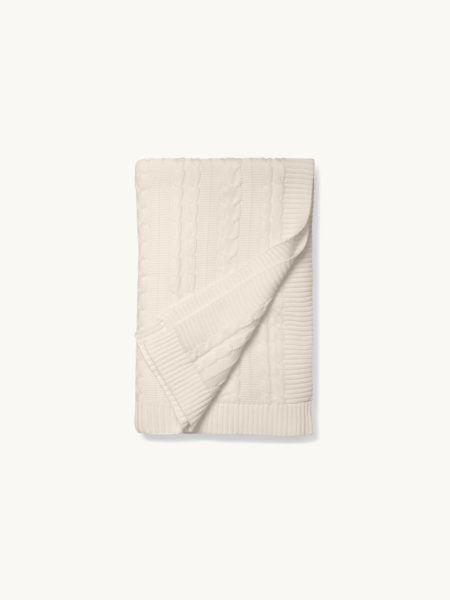 Boll & Branch Cable Knit Throw Blanket