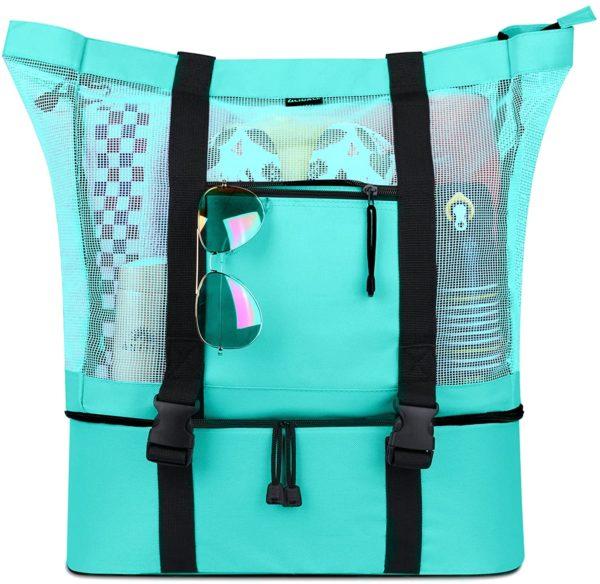 FITFORT Mesh Beach Tote Bag