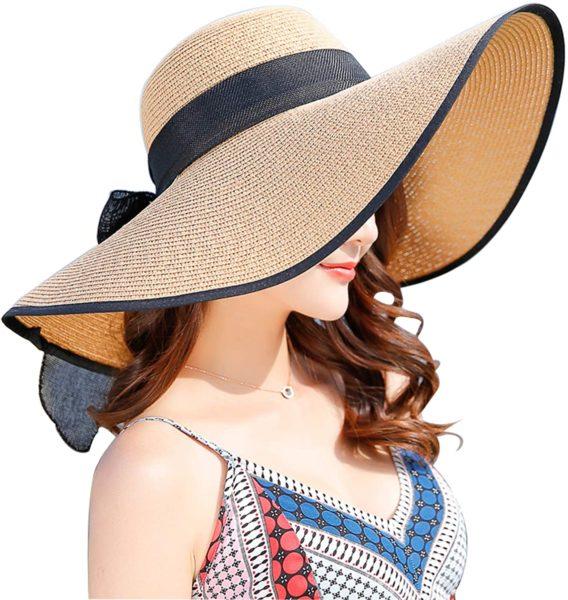 Wide Brim Sun Protection Straw Hat
