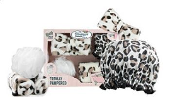 Leopard Print Totally Pampered Gift Set