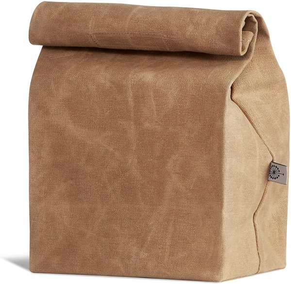 COLONY CO. Lunch Bag, Waxed Canvas