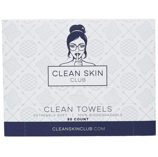 Clean Skin Club Biodegradable Face Towels