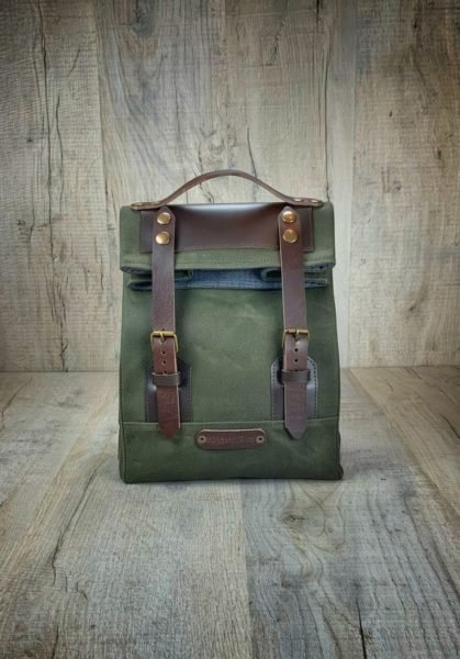 Men's Lunch Box with Leather Handle