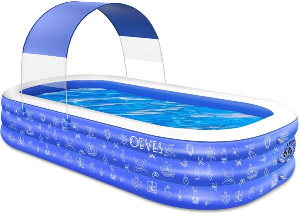 Inflatable Swimming Pool for Kids and Adults