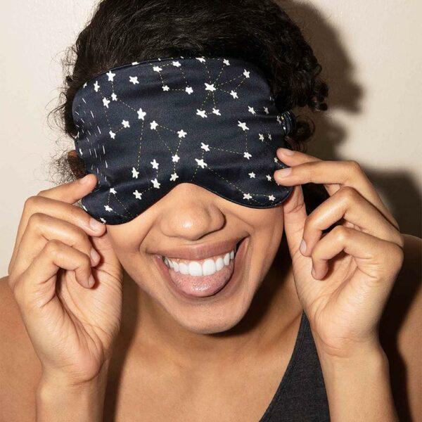 Mulberry Silk Eyemask in Celestial