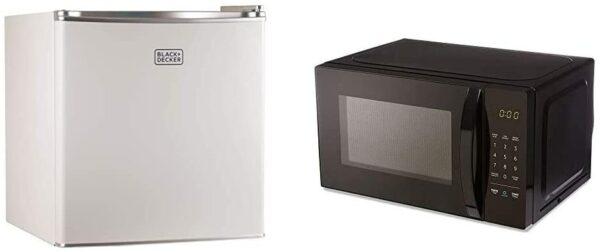 BLACK+DECKER Compact Refrigerator and Microwave Bundle