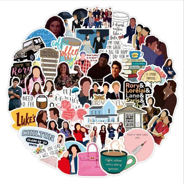 50-Piece Gilmore Girls Vinyl Sticker Pack