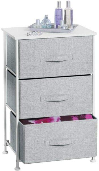 mDesign Storage Dresser End/Side Table