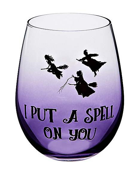 Spell On You Hocus Pocus Stemless Glass