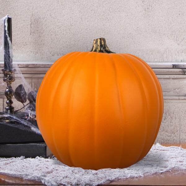 """9"""" Orange Craft Pumpkin by Ashland"""