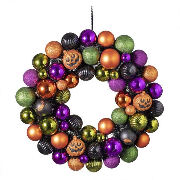 """23"""" Jack-O-Lantern & Ornament Wreath by Ashland"""