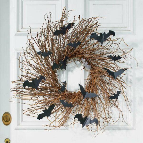 Bats Grapevine Wreath