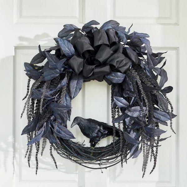Midnight Raven Wreath