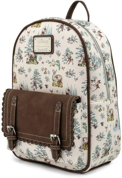 Loungefly Disney Bambi Scenes Womens Double Strap Shoulder Bag Purse