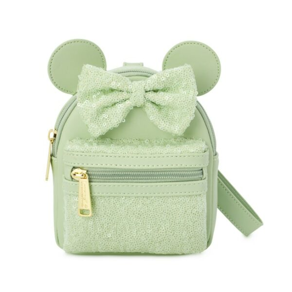Minnie Mouse Sequined Loungefly Wristlet – Mint