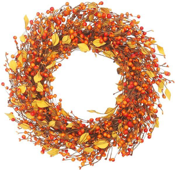 Artificial Berry Fall Wreath