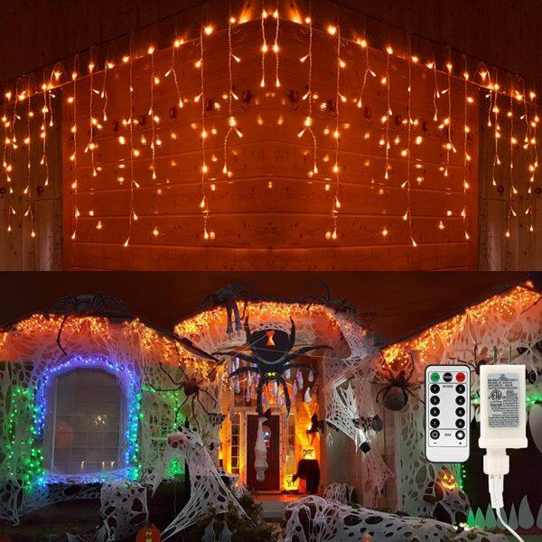 Brizled Halloween Icicle Lights