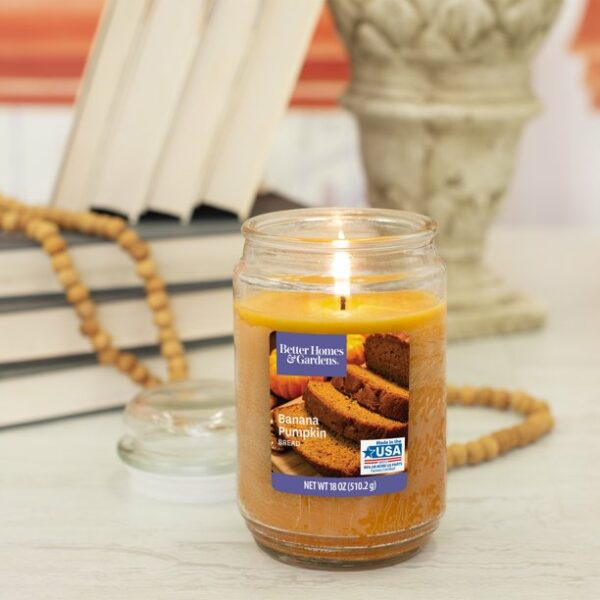 Better Homes & Gardens Banana Pumpkin Bread Single-Wick Jar Candle