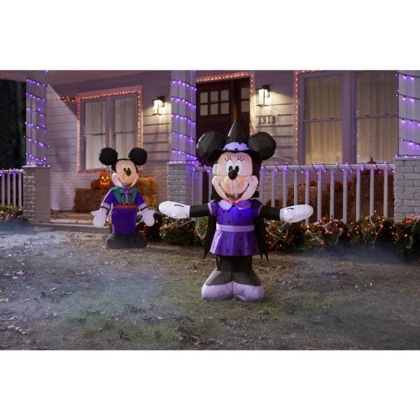 Minnie in Purple Witch Costume Airblown Disney Halloween Inflatable