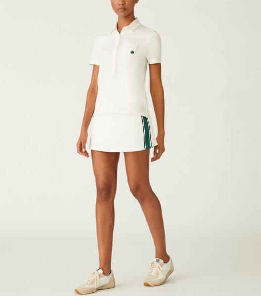 Tech Piqué Side-slit Tennis Skirt