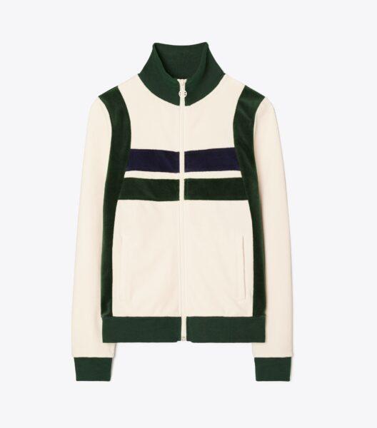 Velour Color-Block Track Jacket