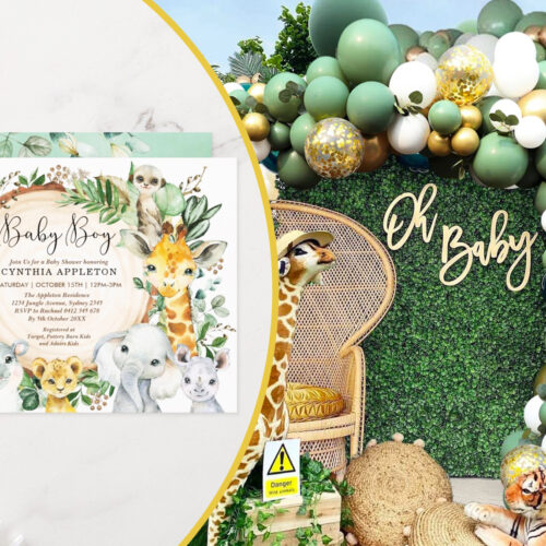 Everything You Need for a Jungle Themed Baby Shower
